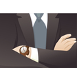Businessman with Crossed Hands vector image