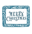 Christmas card hand drawn concept design in vector image