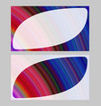 Colorful abstract business card template design vector image