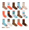 colorful pastel cute socks vector image