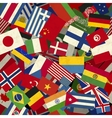 Different countries flags seamless pattern vector image