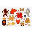 Medieval symbols or icons Collection logos vector image