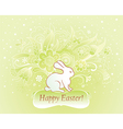 Easter card with rabbit vector image vector image