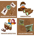 detective service compositions vector image