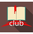 Club book on brown background vector image vector image