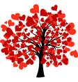 valentines tree vector vector image