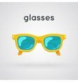 Bright colored sunglasses vector image