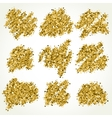 Collection with gold glitter scribbles vector image vector image