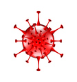 Red bacteria isolated on white vector image vector image