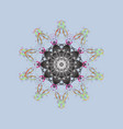 different snowflake collection winter elements vector image