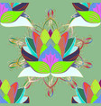 flowers on neutral green and violet colors vector image