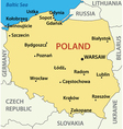 map of Poland vector image