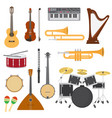 musical instruments music concert with vector image