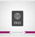 passport icon simple vector image