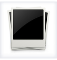 Polaroid photo frames on white background vector image