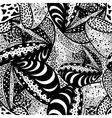 Seamless zentangle design vector image