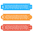 set of bright rectangular elements infographic vector image