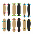 skateboard set vector image