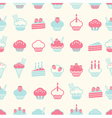 seamless cake pattern soft vintage color style vector image