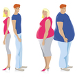 Dieting couple vector image