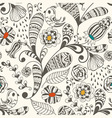 spring seamless wallpaper spring floral pattern vector image