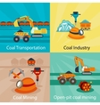 Coal industry concepts vector image vector image