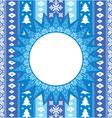 christmas ornamental background vector image