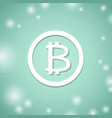 bitcoin white symbol bit coin banking system vector image