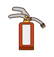 cartoon fire extinguisher safety security vector image