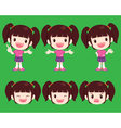cute girl actions vector image
