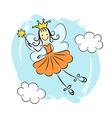 Fairy princess with magic wand vector image
