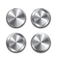 metal button isolated set vector image