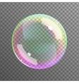 Realistic soap bubble vector image