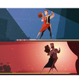 Retro Dance Studio 2 Banners Set vector image