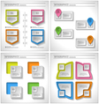 Set of 4 in 1 Business infographics elements vector image