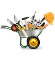 Wheelbarrow with Tools vector image