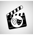theatrical mask clapper movie graphic vector image