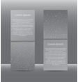 Set Vertical Grey Banners New Year Christmas vector image