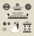 Set of wedding typography vector image vector image