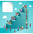 Social network people global growth vector image