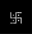 Symbol of Hinduism Swastika vector image