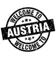 welcome to austria black stamp vector image
