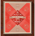 Christmas greeting type design vector image