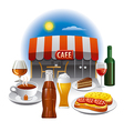 cafe service vector image