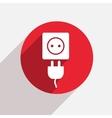 modern plug red circle icon vector image