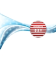 Veterans Day design Wavy background vector image
