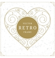 Heart luxury logo template in retro style vector image
