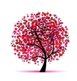 Starry tree fantasy for your design vector image