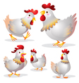 cute hen many actions vector image