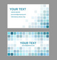 Cyan abstract business card template design vector image